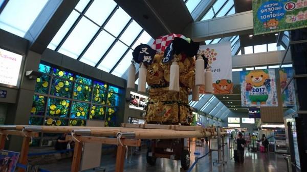 新居浜太鼓祭り太鼓台展示と新居浜の物産展 in 松山空港