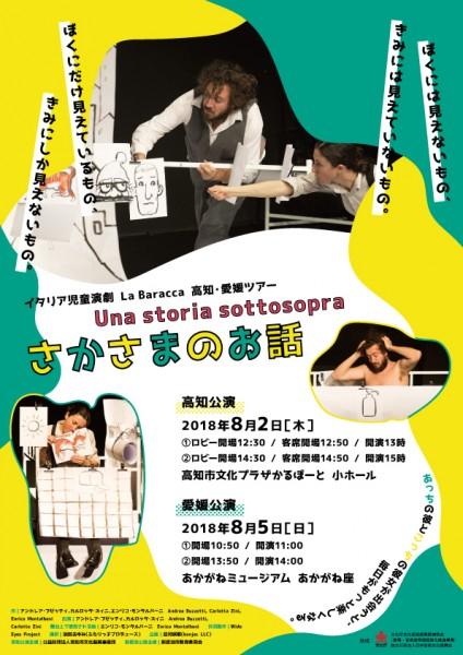 イタリア児童演劇 La Baracca 高知・愛媛ツアー 『Una storia sottosopra さかさまのお話』