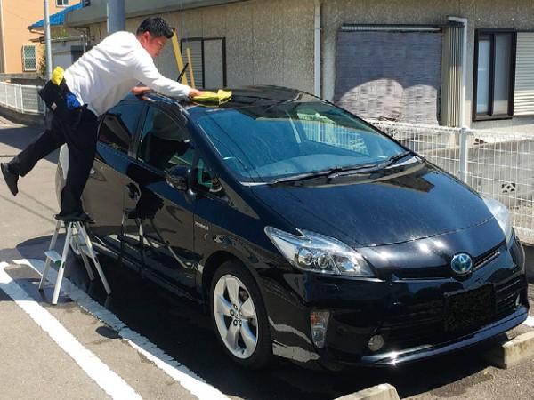 タウン情報まつやまを見たで年間洗車プランが10%OFF!