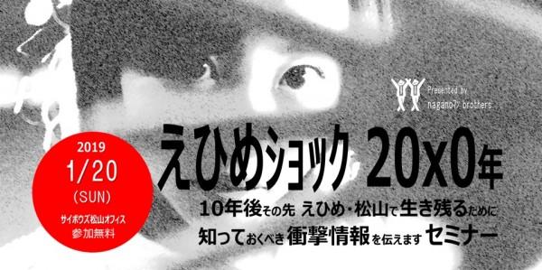 えひめショック20×0年 10年後その先えひめ松山で生き残るために知っておくべき衝撃情報を伝えますセミナ-