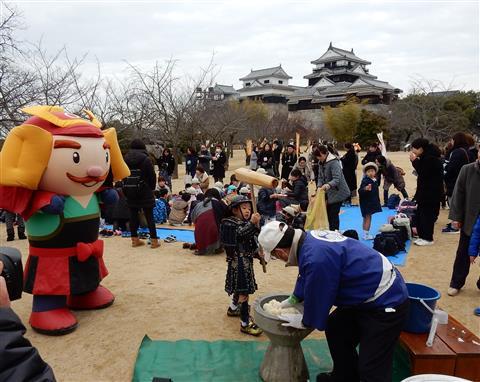 松山城誕生記念日 おめでとう417歳!