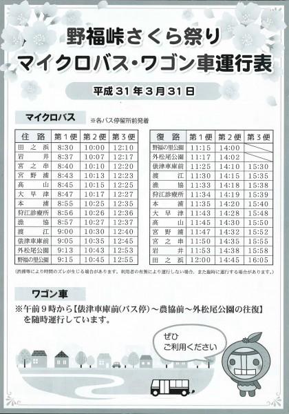 第31回 野福峠さくら祭り