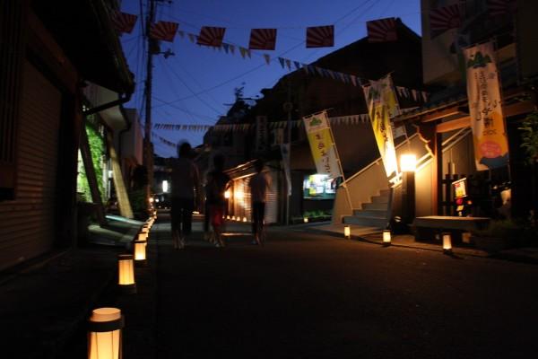 岩松行燈回廊(つしま夏まつり前夜祭)&ちょうちん行列