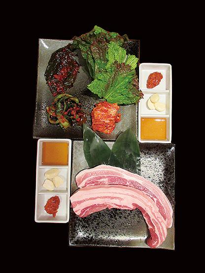 極上の「甘トロ豚サムギョプサル」