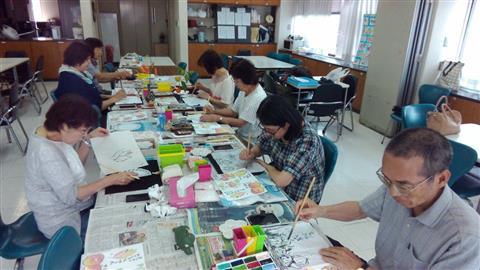 絵手紙教室 ハレルヤ松山