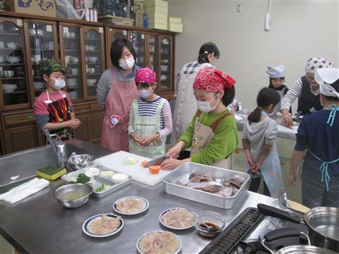 親子魚料理教室
