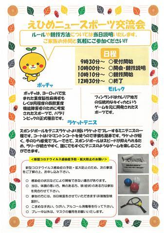 愛媛県総合運動公園 開園40周年記念 えひめニュースポーツ交流会
