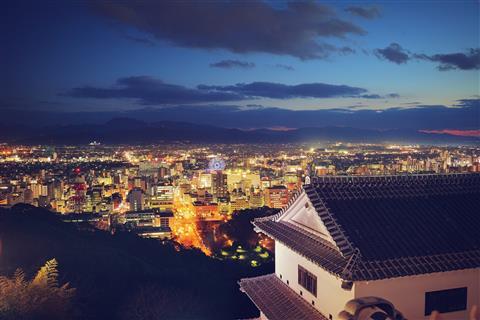 日本夜景遺産認定記念 松山城 秋の夜間営業