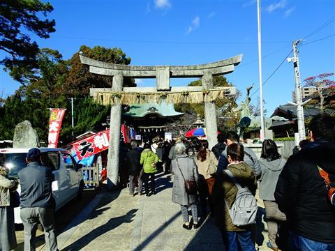 三津厳島神社の初詣
