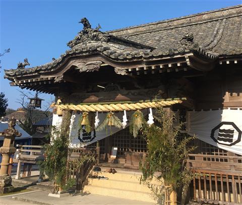 宇和島 三島神社の初詣