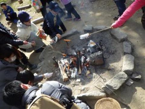 家族でmoricco【2月たき火遊び】