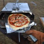 薪で簡単ピザ作り