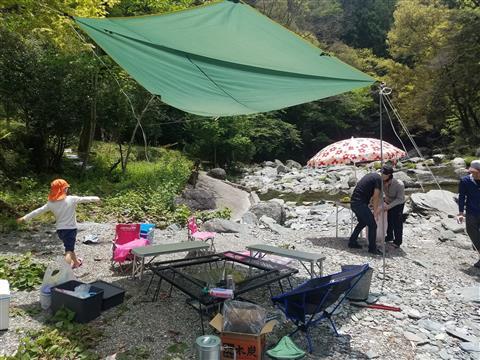 川辺でBBQ ~川で遊んで大川黒牛を食べよう~